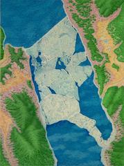 Alan Bray, Ice Dam, Casein on panel landscape painting, 2017
