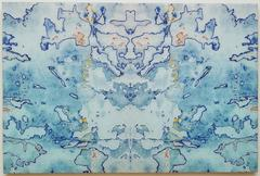 J Ivcevich, Shred Mandala II, Abstract mixed media on panel, 2013