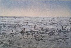 Keiji Shinohara, Sommesso, Ukiyo-e woodblock print landscape, 2017