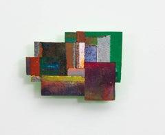 Joan Grubin, Detritus #14, Acrylic on pressed wood abstract wall sculpture, 2015