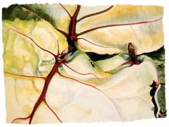 Jan Aronson, Leaves #17, botanical watercolor on paper, 2004