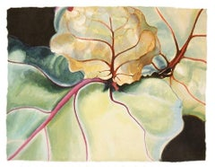 Jan Aronson, Leaves #26, botanical watercolor on paper, 2004