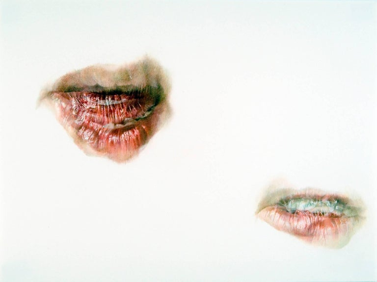 Julia Randall, Lure #4, Photorealist colored pencil drawing, 2007