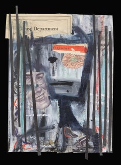 Melissa Stern, The Trust Department, art brut-inspired oil and graphite collage