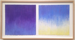 Daisy Craddock, Late Afternoon (3rd), Abstract oil pastel on paper diptych, 2007