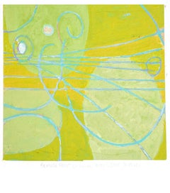 Jim Holl, Particle Point Collision 5.1.18, abstract oil on paper painting