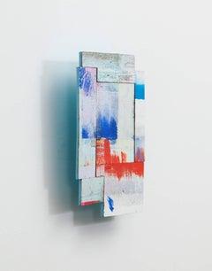 Joan Grubin, Detritus #4, Acrylic on pressed wood abstract wall sculpture, 2015