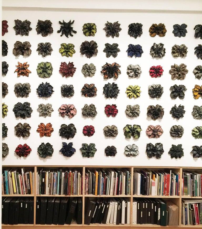 Christopher Adams, Primordial Garden D6, Ceramic sculpture, 2015 - Black Abstract Sculpture by Christopher Adams