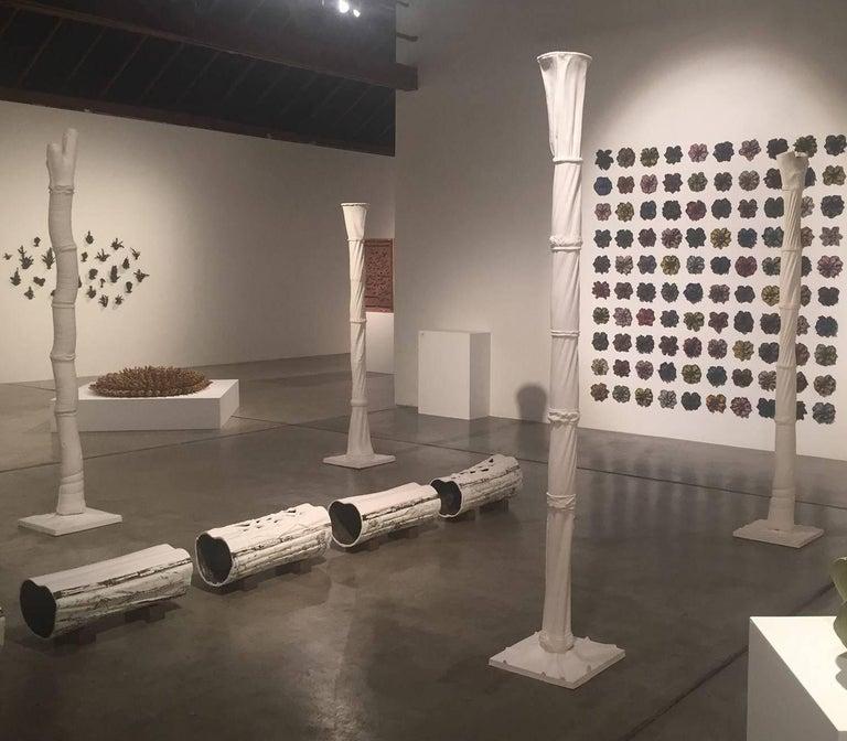 Christopher Adams, Primordial Garden H5, Ceramic sculpture, 2015 - Black Abstract Sculpture by Christopher Adams