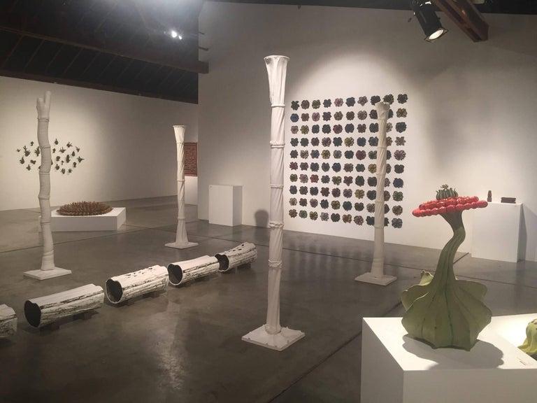 Christopher Adams, Primordial Garden H7, Ceramic sculpture, 2015 - Black Abstract Sculpture by Christopher Adams
