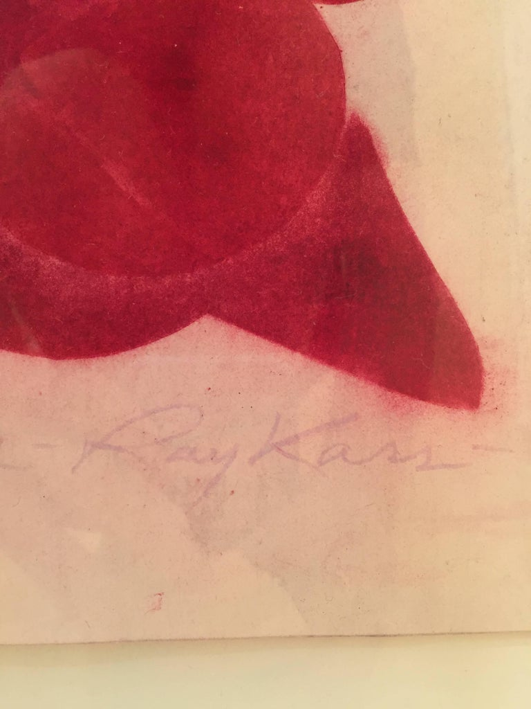 Ray Kass, Still Life 8-5-2014, abstract mixed media watercolor painting, 2014 For Sale 2