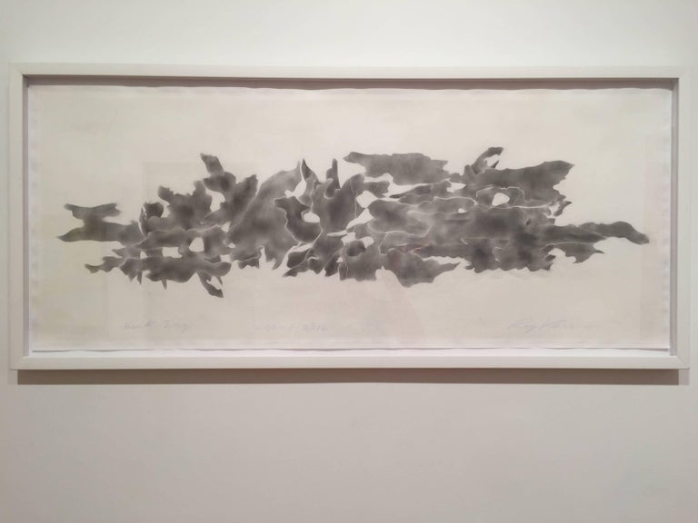 Ray Kass, Bark-Ing 06-07-2016, Abstract graphite drawing on paper, 2016 - Contemporary Art by Ray Kass