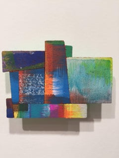 Joan Grubin, Detritus #2, Acrylic on pressed wood abstract wall sculpture, 2015