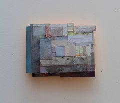 Joan Grubin, Detritus #33, Acrylic on pressed wood abstract wall sculpture, 2017