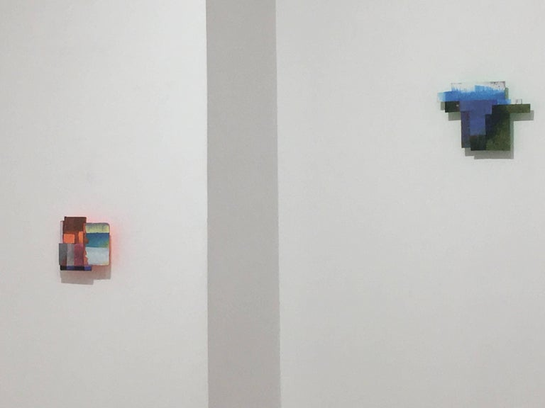 Joan Grubin, Detritus #21, Acrylic on pressed wood abstract wall sculpture, 2017 - Abstract Sculpture by Joan Grubin