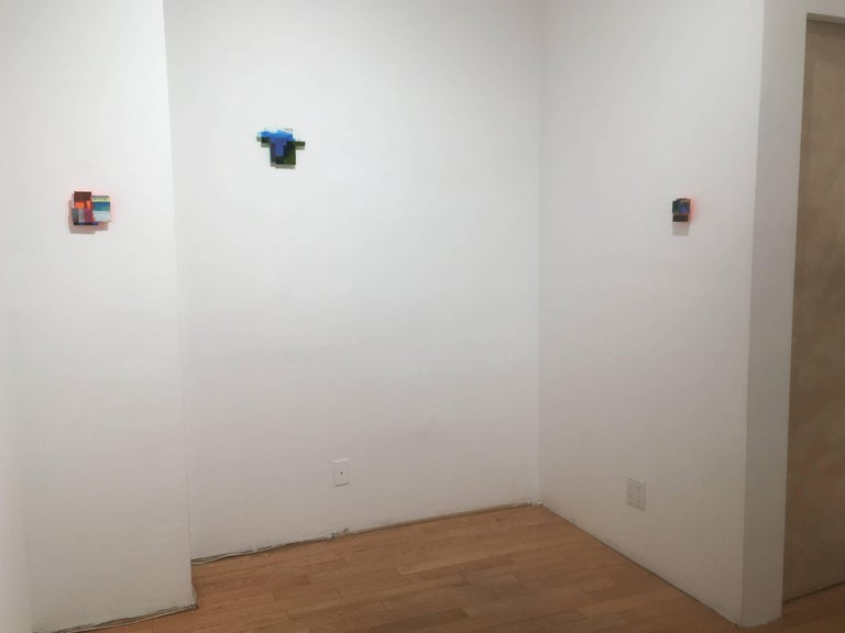 Joan Grubin, Detritus #21, Acrylic on pressed wood abstract wall sculpture, 2017 - Brown Abstract Sculpture by Joan Grubin