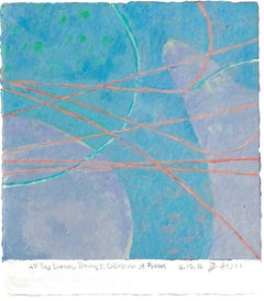 Jim Holl, Collision of Pions 6.15.16, organic abstract oil on paper painting