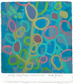 Jim Holl, Yerba Buena 5.1.16, organic abstract oil on paper painting, 2015