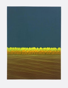 Ann Aspinwall, Corona II, Abstract geometric screen print, 2018