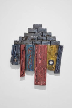 J Ivcevich, Untitled (Bricolage), Abstract wood, ceramic, and polymer sculpture