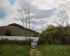 Eileen Murphy, Unimagined Bridges, realist oil on panel landscape painting, 2017