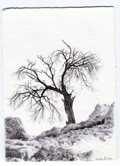 Dina Brodsky, Tree No. 50, March 15, 2016, Landscape drawing with pen on paper