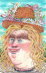Spring Bumpkin with Ribbon Hat