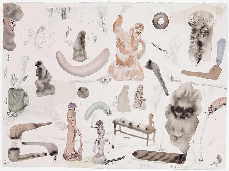 Guðmundur Thoroddsen Figurative Art - Untitled (Men In Museums III)