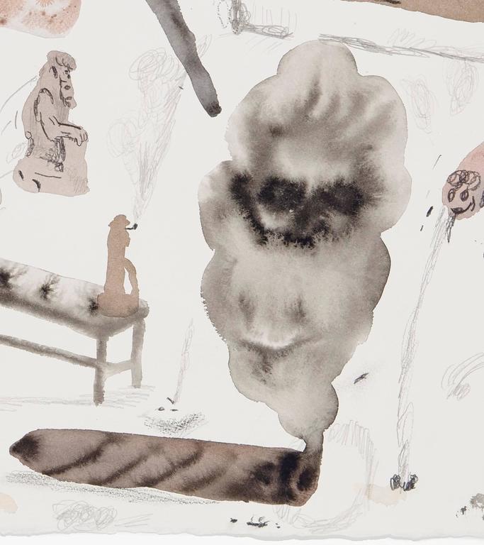 Untitled (Men In Museums III) - Contemporary Art by Guðmundur Thoroddsen