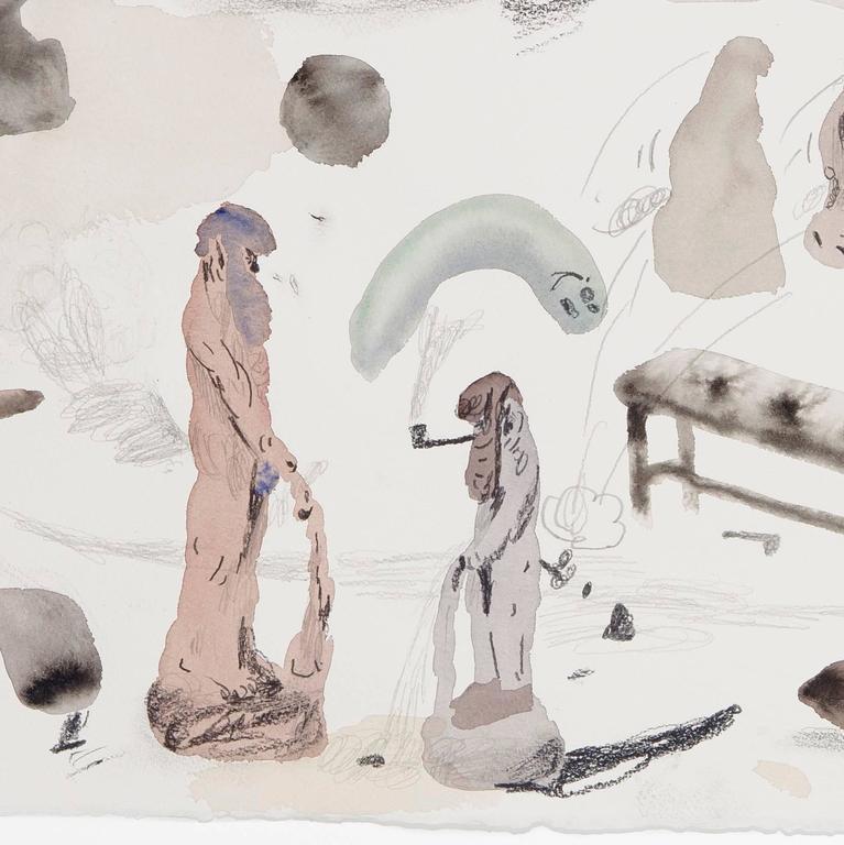 Untitled (Men In Museums III) - Art by Guðmundur Thoroddsen