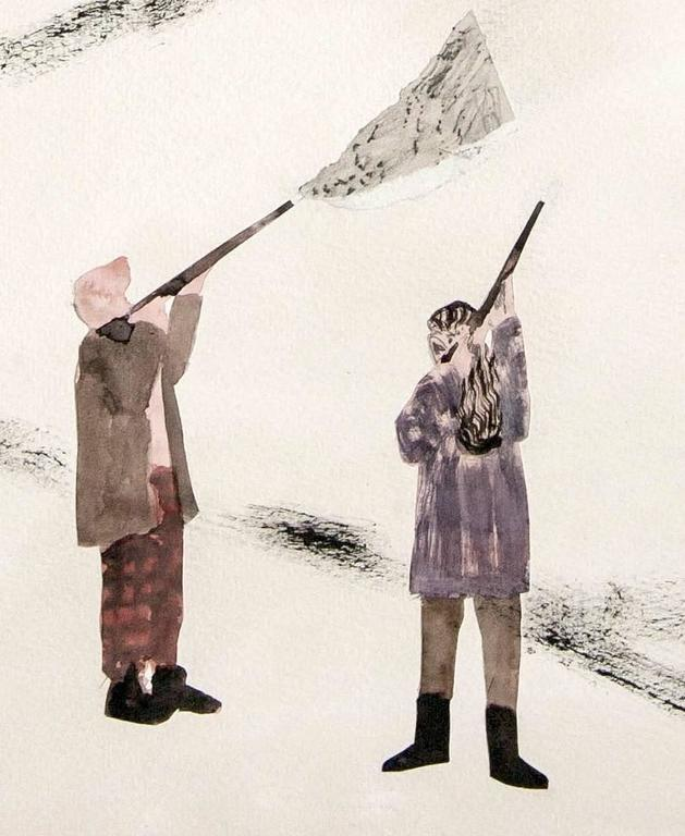 Hunting in the Highlands - Contemporary Art by Guðmundur Thoroddsen