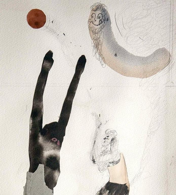 A Game of Basketball in Athens Apartment - Art by Guðmundur Thoroddsen