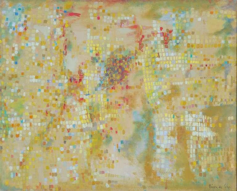 Terrasse ensoleillée - Painting by Maria Helena Vieira da Silva