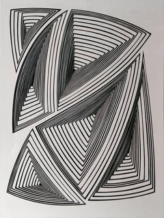 Freehand Cut with Surgical Scalpel on 2 ply Museum: Black & White Abstract - In