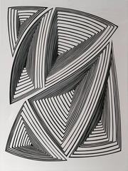 Cut Work – Black & White Abstract - In