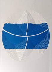 Cut Work – Blue & White Stripe - In