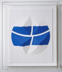 Cut Work – Blue & White Stripe - Out