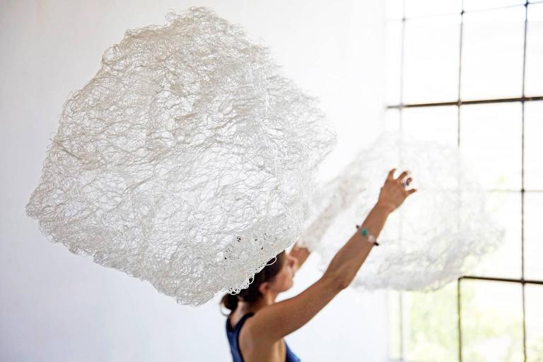 Clouds I & II - Contemporary Sculpture by Angelica Bergamini