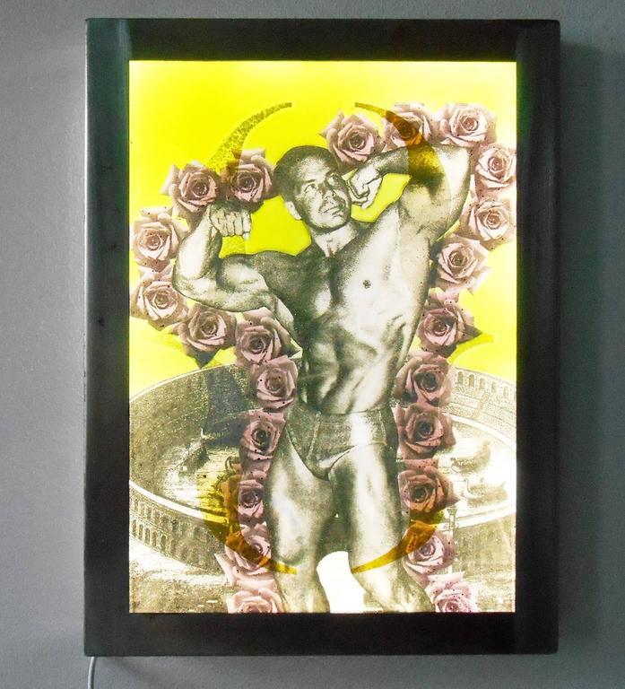 'Muscle Man' - Mixed Media Art by Joseph Cavalieri