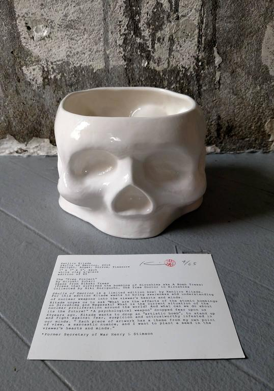 Skull of Emotion - Gray Figurative Sculpture by Kenjiro Kitade