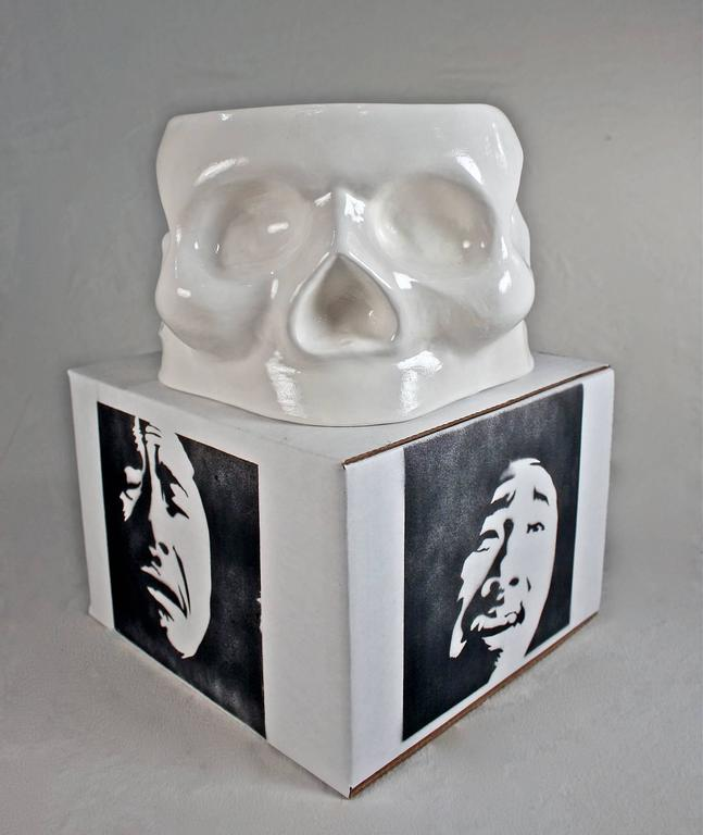Kenjiro Kitade Figurative Sculpture - Skull of Emotion