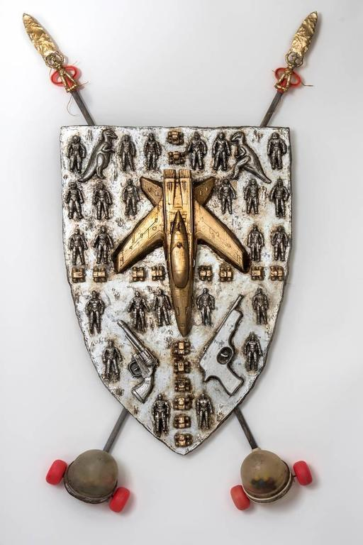 Coat of Arms of a Young Warrior - Mixed Media Art by Joshua Goode