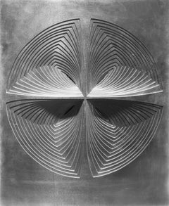 Abstract Metal Wall Sculpture: '4 Piece Circle-In #2'