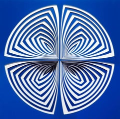 Cut Work, Metal Large Wall Abstract Sculpture: : 'Blue-In'