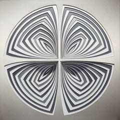 Cut Work, Metal Large Wall Abstract Sculpture: 'Silver Metal-In'