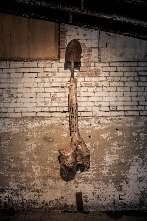 Joshua Goode Still-Life Sculpture - Dinosaur Bone Fertility Shovel