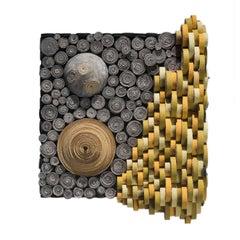 Mixed Media Wall sculpture: 'days/nights'