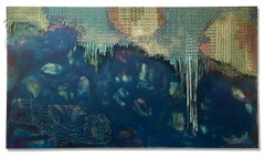 Large Mixed Media 3D Abstract Painting: 'Waterlife'