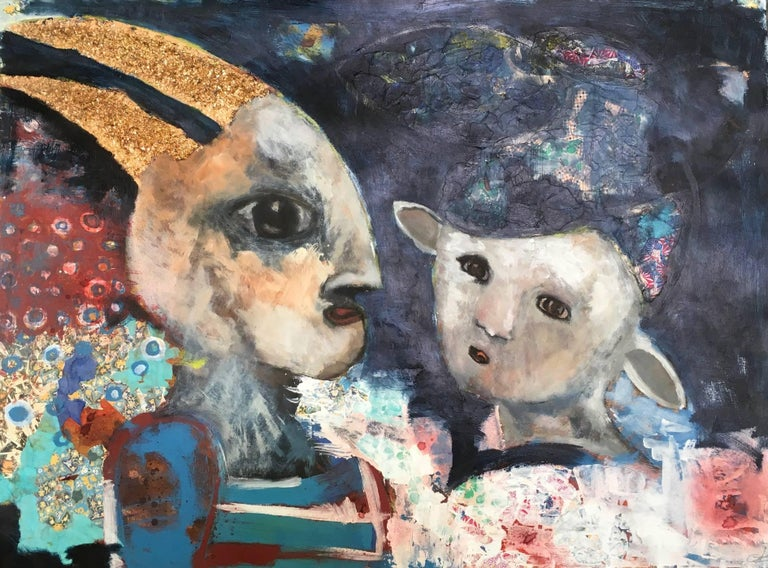 Ashley Benton Figurative Painting - But He's More Than Horns