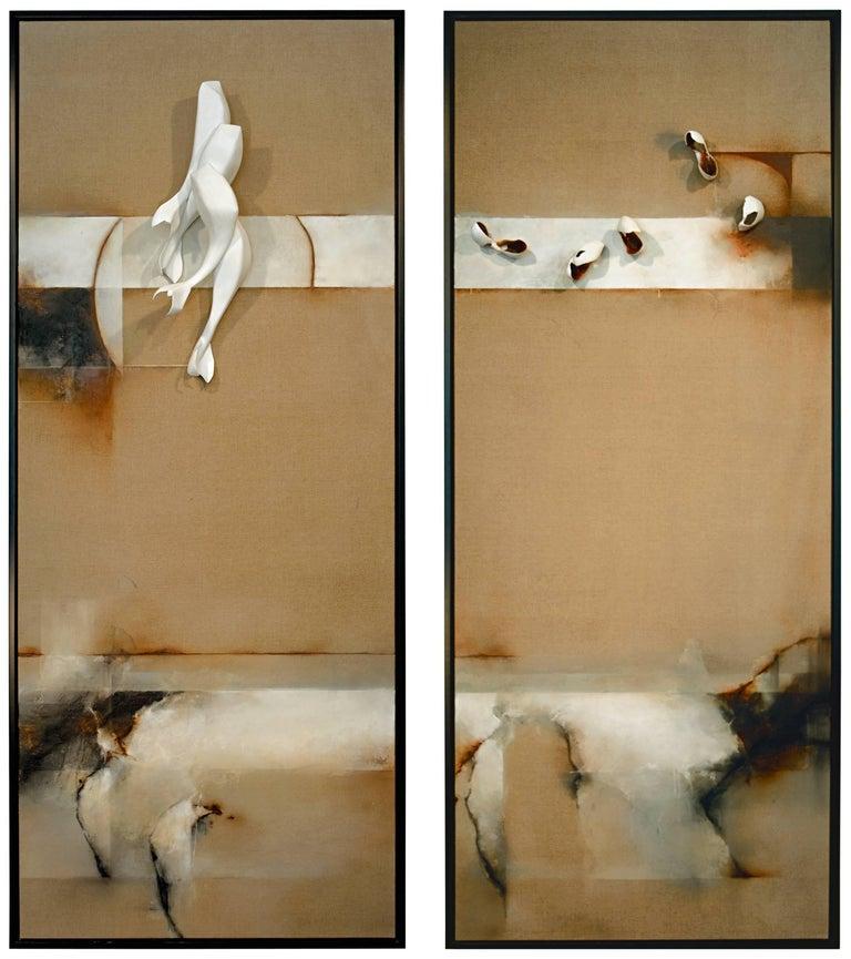 David Mellen Abstract Sculpture - Diptych; Still Stand